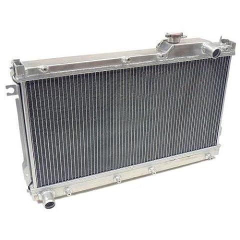50mm High Flow Aluminium Twin Core Engine Cooling Race Radiator