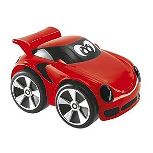 Chicco Mini Turbo Touch - Mini vehiculos con carga por retroceso o movimiento libre de ruedas, color rojo