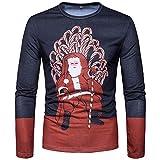 TWBB Herren Weihnachten 3D Drucken Polo Shirt Slim-Fit Sweatshirt Langarmshirt Pullover Oberteile Tops