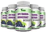 OPC Traubenkernextrakt- 120 Kapseln mit Vitamin C . 300mg pro Kapseln hochdosiert mit 900mg pro Tagesportion