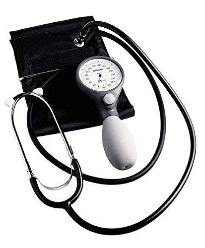 Profi-blutdruckmessgerät (Riester 1443-141 ri-san Blutdruckmessgerät mit Stethoskop, Bügel-Klettenmanschette, Erwachsene, Blau)