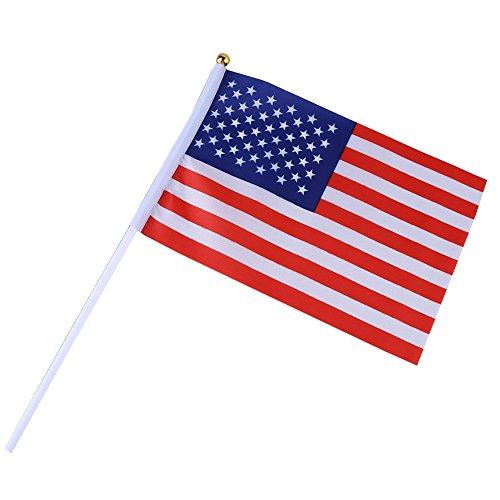 """USA Stick Fahnen, Wingbind 5 """"X8"""" Hand Fahnen auf Stick gebraucht kaufen  Wird an jeden Ort in Deutschland"""