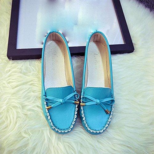 Apartamentos De Sapatos De Nó De Mulheres Ervilha Verão Borboleta Ocasional Sandálias Chinelos Malloom® Azuis Y4qTEUw