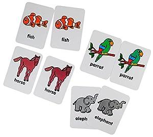Henbea - Juguete Educativo Maxi Memory: Animales en inglés (1003/I)