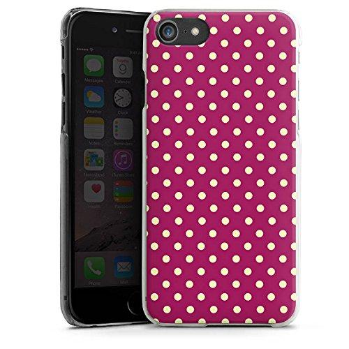 Apple iPhone X Silikon Hülle Case Schutzhülle Punkte Muster Polka Hard Case transparent