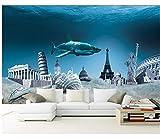 Best El piso de madera Pinturas - Rureng 3D Submarino Edificio Fondo De Tiburón Pintura Review