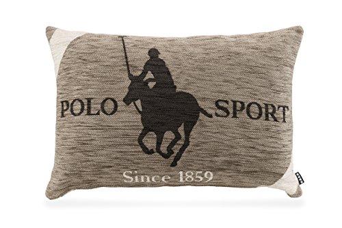 H.O.C.K. Kissen 65x45cm Polo Reiter Pferd Pony Country Club braun -