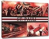 Ultras St. Pauli, Bild auf Leinwand XL , fertig gerahmt, 80 x 60 cm