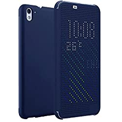 Kapa Dot View Touch sense Flip Back Case Cover for HTC Desire 826 - Blue