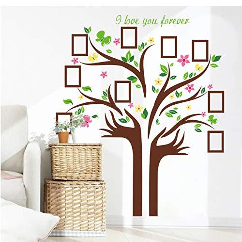 JXSTORE Wandaufkleber für Schlafzimmer Wohnzimmer Mädchen Junge Küche - Baum Verlässt Rahmen (Thanksgiving Verlässt Zu)
