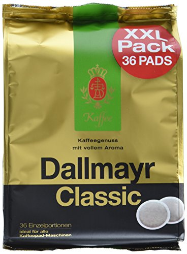 Dallmayr Kaffee Classic Kaffeepads 36er, 5er Pack (5 x 248 g)