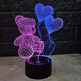 Geführte Liebe des Nachtlichts 3d führt bunte romantische Geburtstagsgeschenke helle Dekorationen der Lichtdekorationen 3d