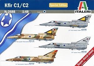 Italeri 2688S  - Kit de maquetas de aviones de guerra Kfir C1/C2 Importado de Alemania