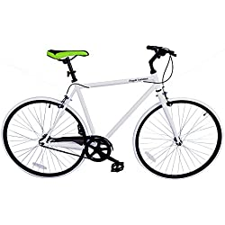 Royal London Fixed Gear Fixie sola velocidad bicicleta, blanco