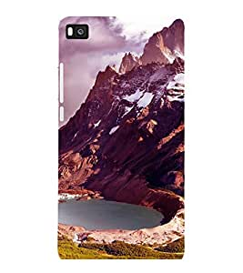 printtech Ice Mountain View Back Case Cover for Huawei Honor P8