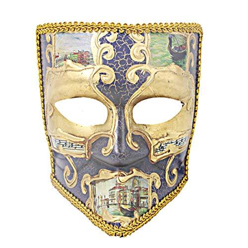 Hophen Bauta Maskerade Venezianische Maske Karneval Halloween Unisex Kostüm Deko Basteln 19 * 21 * 12cm Dark Purple2 (Und Für Erwachsene Einfache Kreative Halloween-kostüme)