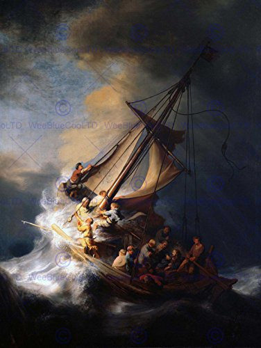 rembrandt-christ-in-storm-on-lake-of-galilee-old-art-painting-print-12x16-inch-30x40cm-2623om