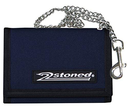 2Stoned Ketten-Geldbörse Wallet mit Label Speed in Navy Blau für Erwachsene und Kinder - Navy-geldbörse
