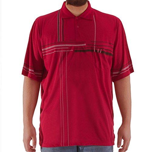 Romesa Polo Shirt Übergröße 3XL-5XL Rot