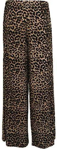 WearAll - Pantalon palazzo avec imprimé léopard - Pantalons - Femmes - Grandes tailles 40 à 54 Brun
