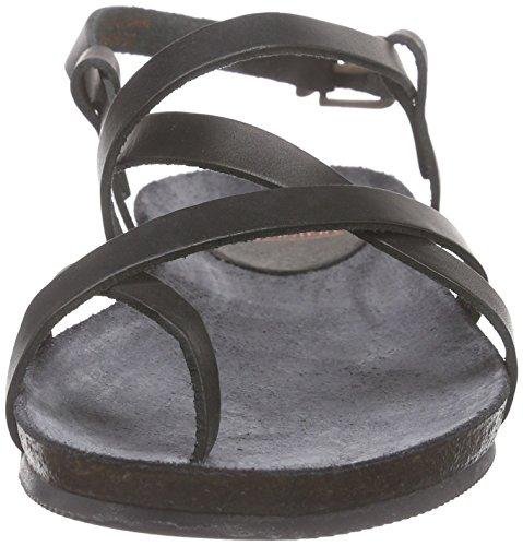 Fred de la BretoniereFred comfort sandalet cross straps elegant last Elche - Sandali a Punta Aperta Donna Nero (Nero (nero))
