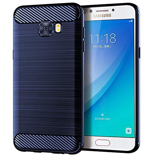 Banath Fall für Samsung Galaxy C5, Rückseitige Abdeckung [Scratch/Dust Proof] Schlanke Stoßfeste, Robuste Ganzkörper-Schutzhülle für Samsung Galaxy C5 - Blau