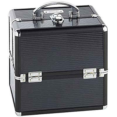 Beautify Professional Small Lockable Vanity Make Up Beauty Storage Case