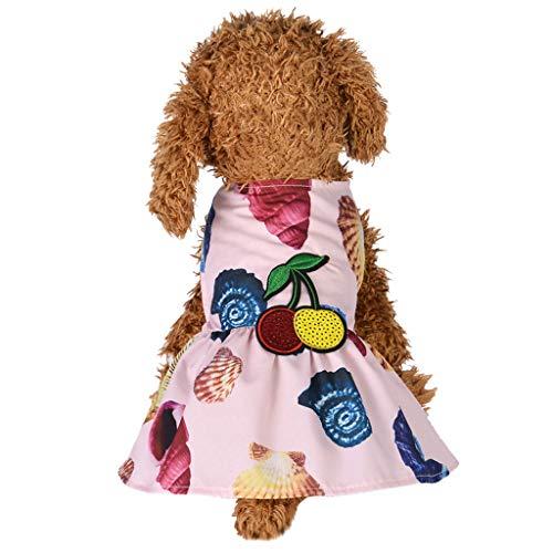 Xmiral Tutu Abiti per Cani di Piccola Taglia Abiti Cane, Principessa della Moda Dolce Cucciolo Cane Pet Vestito Gonna Cani Cappotto dell'animale Domestico Abbigliamento Costume S Rosa