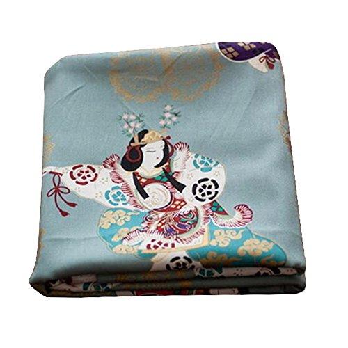 Black Temptation Telas Hechas a Mano de Estilo japonés -DIY Regalos Bolso/Kimono / Fundas de almohada-A12