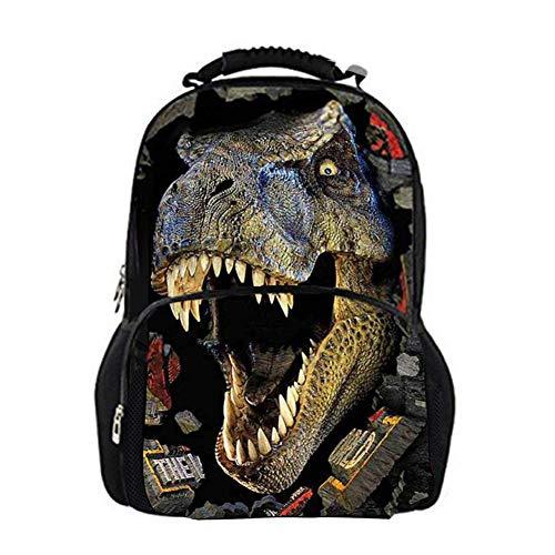 Demarkt Mochilas Niños Dinosaurio Mochila Escolar Bolso Creativo Grande con Estampado de Dinosaurio...