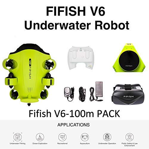 Drone sous-marin Caméra photo Fifish V6 QYSEA Grand angle 162˚ 6 Directions de mouvement 4K UHD 12...