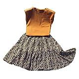 TWIFER_été_Toddler Kids Baby Girl Sleeveless Vest T Shirt Tops Floral Princess Skirt Set_1 2 3 4 5 6 7 25 Ans Les magasins Ont