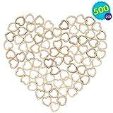 TUPARKA 40 PCS 50mm Bianco Cuori di Legno Appeso Cuore Decorazione Cuore di Legno abbellimenti per San Valentino Festa Nuziale Fai da Te ciondoli Artigianali