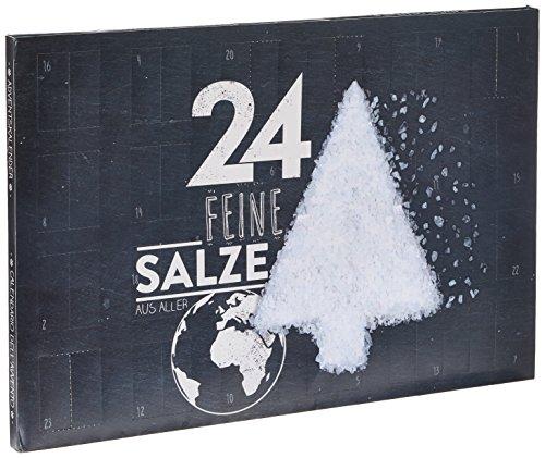 Salz-Adventskalender - Großer Kalender mit 24 verschiedenen Salzen aus aller Welt