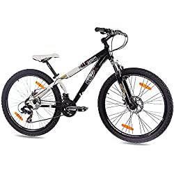 "26"" DIRT BIKE MOUNTAIN BIKE EDGE ALLOY 21 speed Shimano white black - (26 inch)"