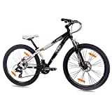 "KCP 26"" DIRT BIKE MOUNTAIN BIKE EDGE ALLOY 21 speed Shimano white black - (26 inch)"