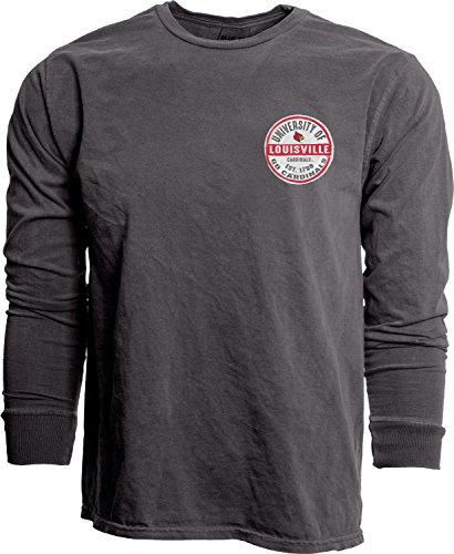 Blue 84 NCAA Louisville Cardinals Erwachsenen-T-Shirt mit Ringgesponnen, NCAA gefärbt, Größe M, Schwarz -