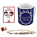 Pattern:Dark Blue Bhaiya is a Blessing Quote PrintedUtility:Raksha Bandhan Gifts for Brother, Rakhi Gifts for Bhaiya, Unique Gift for Bro, Gift for Bhai Office Decor, Unique Coffee-Tea Mug for Bhaiya, Pen Holder for Bro and Special Gift item for Big ...
