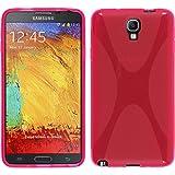 PhoneNatic Custodia Compatibile con Samsung Galaxy Note 3 Neo Cover Rosa Caldo X-Style Galaxy Note 3 Neo in Silicone Cover