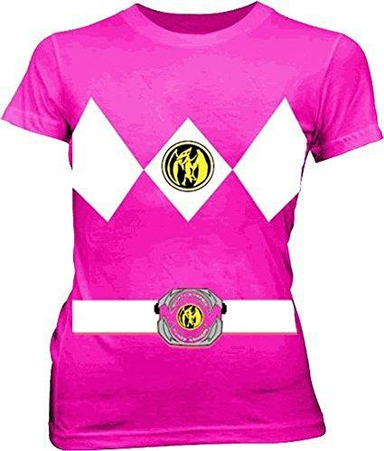 ostüm Junior Fuchsia T-Shirt (XX-Large) (Power Rangers Kostüm T-shirt)