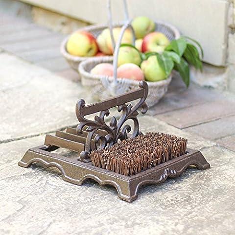 Robust Cast Iron Outdoor Boot Shoe Footwear Scraper - Ideal