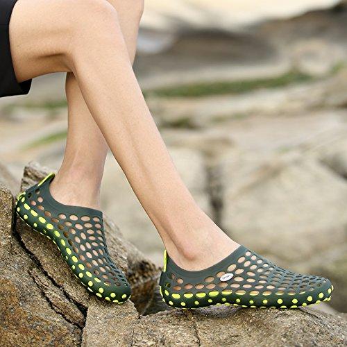 Trou De Chaussures, Des Hommes A Été De Sandales, Baotou Creux Antidérapage Pantoufles, Les Chaussures De Plage light green
