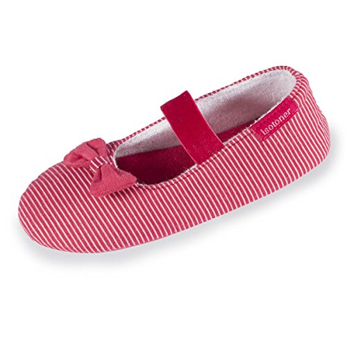 chaussons-ballerines-fille-rayures-isotoner-29