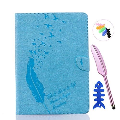 ANNN® iPad Air/iPad 5 Solide Drucken(Dayan Feather) PU Leder Flip Wallet Schutzhülle mit Vogel Magnetverschluss - Bookstyle Hülle mit Standfunktion und Kartenfach als stabiler Schutz--B05