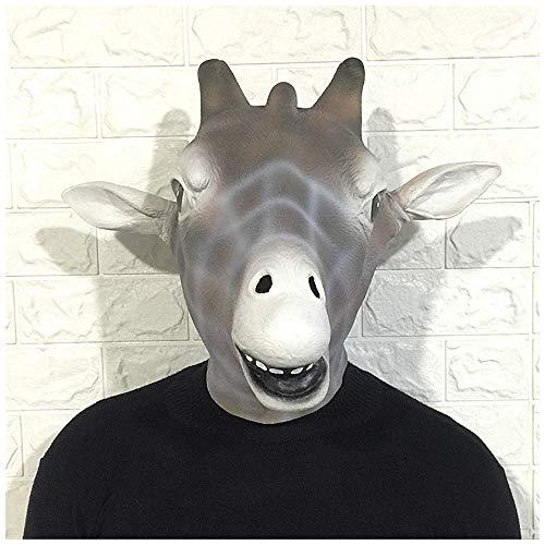 Maske YN Luxus Neuheit Giraffe Tier Kopfbedeckung Dr. Kirin Cartoon Latex Kopfbedeckung Maskerade Zeigen Requisiten