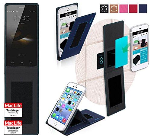 reboon Hülle für HomTom HT7 Pro Tasche Cover Case Bumper | Blau | Testsieger