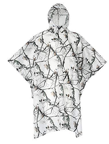 WQING Tragbarer transparenter Regenmantel Poncho mit Kapuze und Ärmeln Wiederverwendbare Regenbekleidung für Erwachsene
