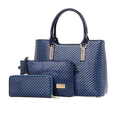 Le donne di vacchetta Esterni / Ufficio & Carriera Set borsa,Nero Blue