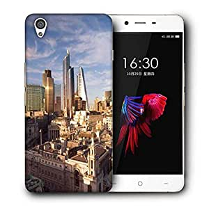 Snoogg Big Buildings Printed Protective Phone Back Case Cover For OnePlus X / 1+X