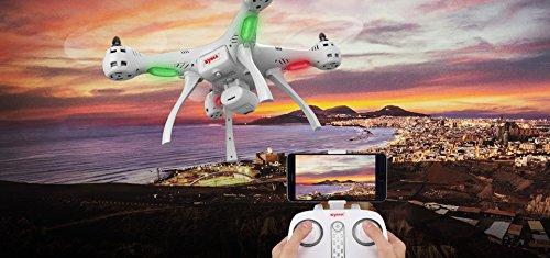 trendy planets® SYMA X8PRO GPS WIFI FPV RC Quadrocopter mit 1MP HD Kamera / Hover Funktion Headless Modus RTF 2,4 GHz / Neuheiten 10/2017 (X8PRO, white) - 5
